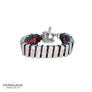 Park Lane Cade Bracelet Hand Woven Leather